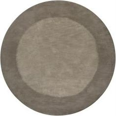 @Overstock.com - A colorful modern pattern highlights this Mandara wool rug. Hand-tufted in India using premium quality wool and features border pattern in shade of dark grey against light grey background.http://www.overstock.com/Home-Garden/Hand-tufted-Mandara-Grey-Wool-Rug-79-Round/6545731/product.html?CID=214117 $394.99