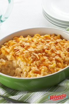 VELVEETA Down-Home Macaroni & Cheese - If you're looking for a mac and cheese recipe with the perfect balance of cheesy and creamy, the search ends here.