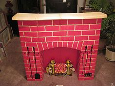 we had one of these cardboard fireplaces