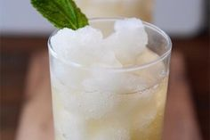 Frozen Mint Lemonade Slush