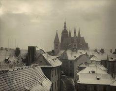 Winter Prague by Joseph Sudek (Czech ,1896-1976)