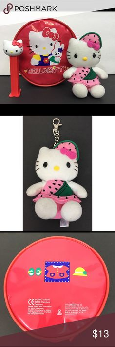 Hello Kitty Bundle Preowned Hello Kitty Bundle includes; Round Zipper Pouch, Keychain and Pez Dispenser. Hello Kitty Other