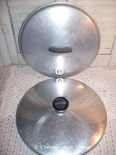 Lot 2 Vintage Aluminum Wearever Cooking Stock Pot Lids Replacement Cookware | eBay
