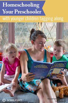 Homeschooling Your Preschooler or Kindergartener with Younger Children Tagging Along
