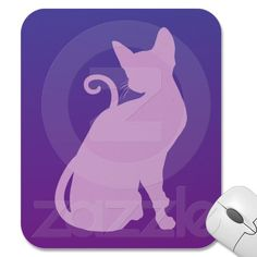 Lilac Cat on Purple Mousepads