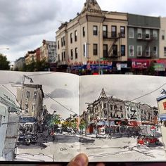 Start off your week with our favorite urban sketch from the past weekend contributed by Hugo Costa on myMoleskine.  Come see more and share your talent on http://ift.tt/15JC7Dr  #Moleskine #myMoleskine by moleskine_world