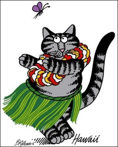 I have a soft spot in my heart for Kliban cats. I used to have Kliban cat bed sheets as a kid. lol.