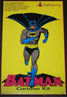 COLORFORMS: 1966 Batman Cartoon Kit #Vintage #Toys