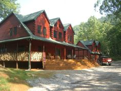 RIDGE TOP MANOR, really nice, big place. But only avail last week of July and much of August.