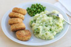 Ricetta Polpettine di salmone con potato and pea mash - Labna