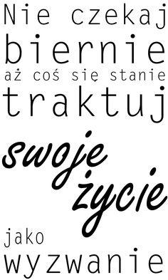 """Naklejki napisy na ścianę po polsku """"nie czekaj"""" PROJEKT 038 AG.art deco"""
