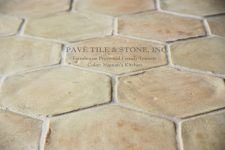 Farmhouse Provencal French Terra Cotta Tile Flooring - wish there were a smaller version.  Would be a perfect backsplash...