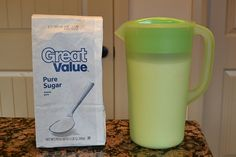 Store sugar in a plastic pitcher so you can just pour out what you need.