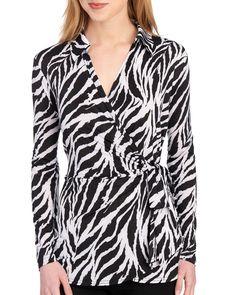 71563c4422b Zebra Wrap Top-Women-Spring Trends-Shops & Trends-Women | Stein. steinmart