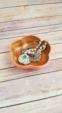 Jewellery Storage, Jewellery Display, Jewelry Shop, Wooden Bowls, Monkey, Upcycle, Eco Friendly, Coral, Etsy Shop