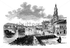 City of Murcia, Spain, Vintage Engraved Illustration, During The Late Trousset Encyclopedia (1886 stock vector - Clipart.me