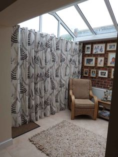 Eyelet curtain in conservatory extension in Bramcote Nottingham
