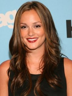 Pictures : Leighton Meester Hairstyles - Leighton Meester's Long Glam Hairstyle