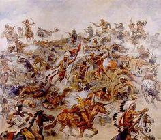 Die Indianerschlacht am Little Big Horn, 1936 // Elk Emil Eber