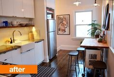 Before & After: Claire & Jeffrey's Mostly DIY Kitchen Renovation