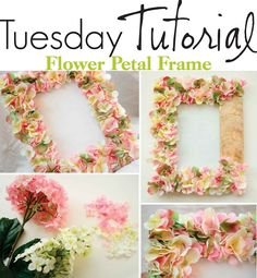 Flowery picture frame. Use the basic process to transform it into a fall or black orange Halloween theme!