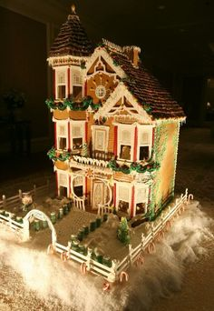 Gingerbread Party on the Roof ♥ this and the icicles on the awnings. Description from pinterest.com. I searched for this on bing.com/images