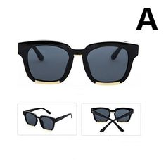 7ce64d7b134449 Women s Fashion Square Frame Mirrored Lens Round Sunglasses Glasses Eyewear  New
