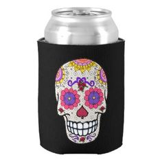 Sugar Skull, Day of the Dead, Can Cooler
