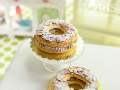 ParisBrest  Classic French Pastry in 12th Scale by ParisMiniatures, $50.00