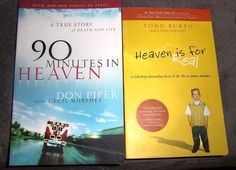 LOT OF 2 BOOKS ABOUT LIFE DEATH & HEAVEN TODD BURPO & DON PIPER #BooksonCollecting