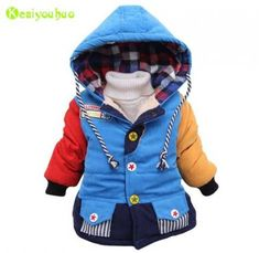 5Years, Red FEITONG Kids Little Boy Autumn Winter Hooded Coat Cloak Jacket Thick Warm Clothes