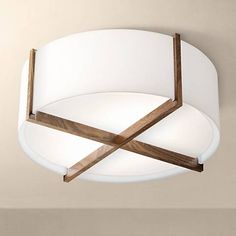 "Cerno Plura 18"" Wide Walnut Ceiling Light  $302 at Lamps Plus until 3/27/17."