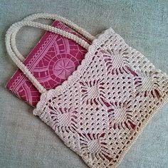 Vintage Crochet bag ivory, 1970s, Crochet, Without lining, Vi.