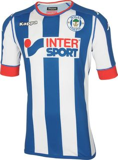 cb171278e The new Wigan Athletic 16-17 home kit introduces a smart
