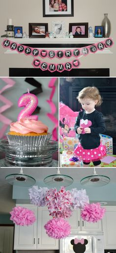 Minnie Mouse themed birthday party for a little girl!