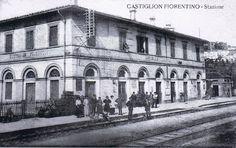 Stazione di Castiglion Fiorentino in una cartolina viaggiata nel 1901
