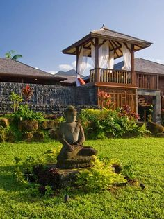 Budha in garden.  for-the-home
