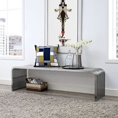 Pipe Stainless Steel Large Bench