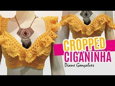 So happy To share this Fashionable Festival Crochet Crop Top step by step Tutorial with you all . Enjoy your Summer and Happy Crochet! Poncho Crochet, Mode Crochet, Crochet Shorts, Crochet Jacket, Crochet Blouse, Crochet Clothes, Crochet Bikini Top, Knit Crochet, Fashion Bubbles