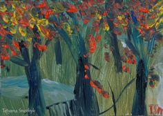 Autumn trees - Tetyana Snezhyk painting