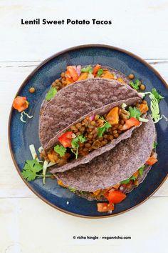 Smoky Lentil and Sweet Potato Tacos. Vegan Recipe | Vegan Richa
