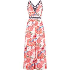 Temperley London Nymph Tailoring Jumpsuit (13.760 ARS) ❤ liked on Polyvore featuring jumpsuits, dresses, jumpsuit, temperley, white, white floral jumpsuit, white halter jumpsuit, temperley london, white halter top jumpsuit and white jump suit