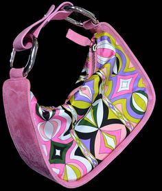 Vintage mod Emilio Pucci designer handbag pink by DressVintage, $170.00 I just LOVE Pucci, could have a whole wardrobe with everything by him! I'd start with this handbag though.
