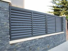 Gate Wall Design, Front Wall Design, House Fence Design, House Main Gates Design, Modern Fence Design, Yard Design, Metal Fence Panels, Fence Doors, Patio Privacy Screen