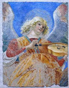 Melozzo da Forli - Musician Angel. 1480.