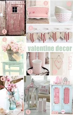 Valentines Mood Boards - one for crafts, color, food, and decor