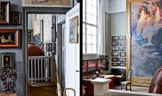 Vy från arbetsateljén mot den så kallade Erosateljén. I Erosateljén fick den stora målningen Eros bestämma takhöjden. House 2, Colours, Ideas, Home, Ad Home, Homes, Thoughts, Haus, Houses