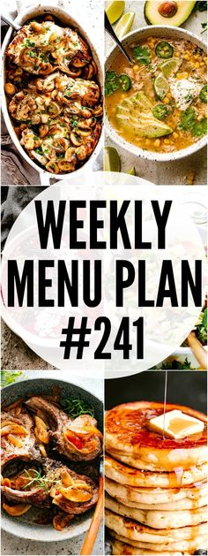 WEEKLY MENU PLAN ( – A delicious collection of dinner, side dish and dessert recipes to help you plan your weekly menu and make life easier for you! In these menu plans, we will be Argula Recipes, Coliflower Recipes, Diet Recipes, Dessert Recipes, Cooking Recipes, Healthy Recipes, Cake Recipes, Weekly Menu Planning, Meal Planning