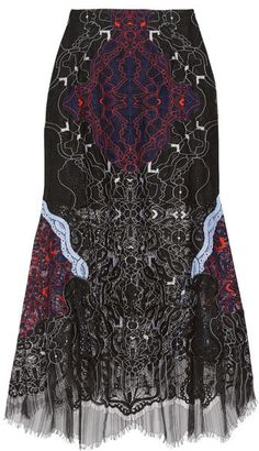 Jonathan Simkhai - Corded Lace Midi Skirt - Midnight blue