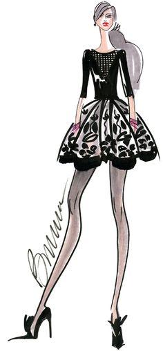 Fashion Week: Designers share their fall 2014 sketches and inspiration #fashionweek #fashion #cute via thefashionspot.com